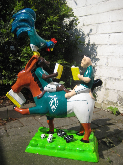 "lesende Bremer Stadtmusikanten ""Werder Fans"" No.115 -verkauft-"