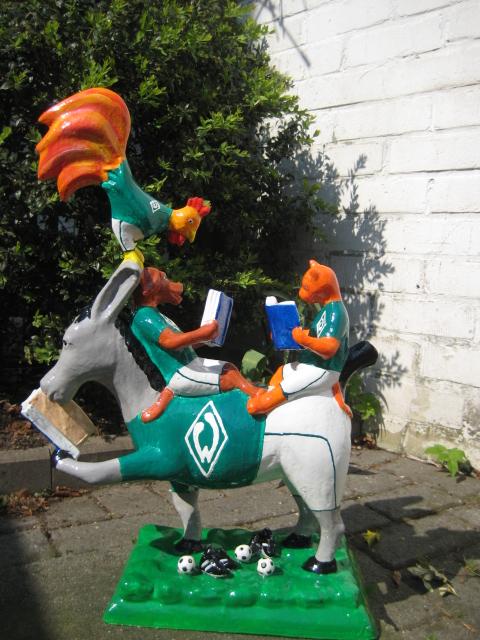 """lesende Bremer Stadtmusikanten """"SV Werder"""" No.116 -verkauft-"""