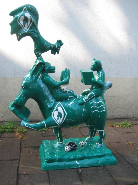 lesende Bremer Stadtmusikanten No.122 Werder Bremen -verkauft-