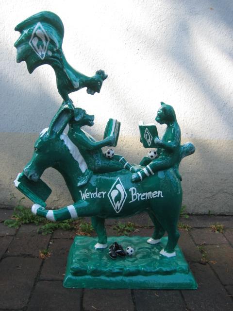 lesende Bremer Stadtmusikanten No. 125 Werder Bremen