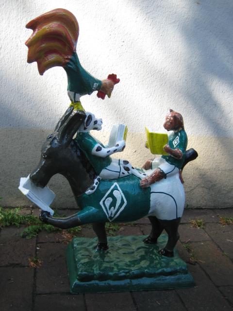 lesende Bremer Stadtmusikanten No. 127 Werder Bremen -verkauft-