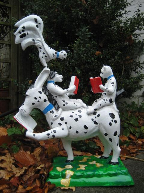 lesende Bremer Stadtmusikanten No. 036 101 Dalmatiner -verkauft-