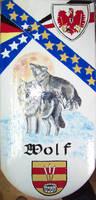 Titelbild des Albums: Deko-Dachpfannen, handbemalt, wetter- und frostfest, Dachpfannen hanbemalt