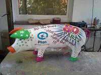 Titelbild des Albums: Große Schweine, bemalte Schweine, Designer-Schwein