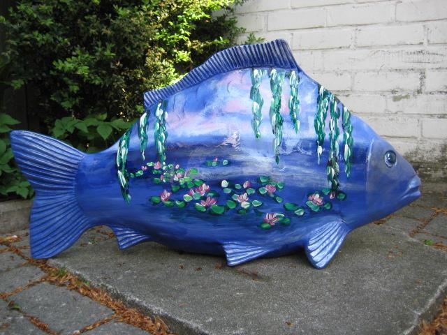 Karpfen aux Monet, Form ist eine Sonderanfertigung für Neustadt an der Aisch