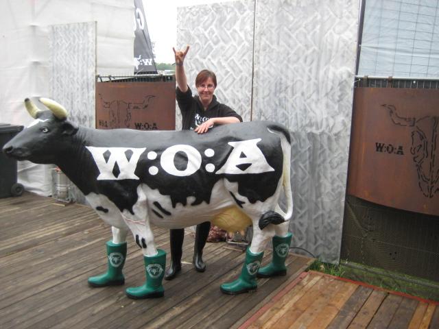 Lebensgrosse Wacken-Kuh