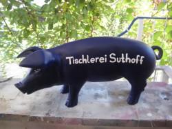Große Schweine, bemalte Schweine, Designer-Schwein