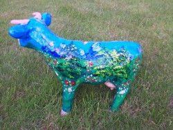 Kleine Kuehe, handbemalte Kuh